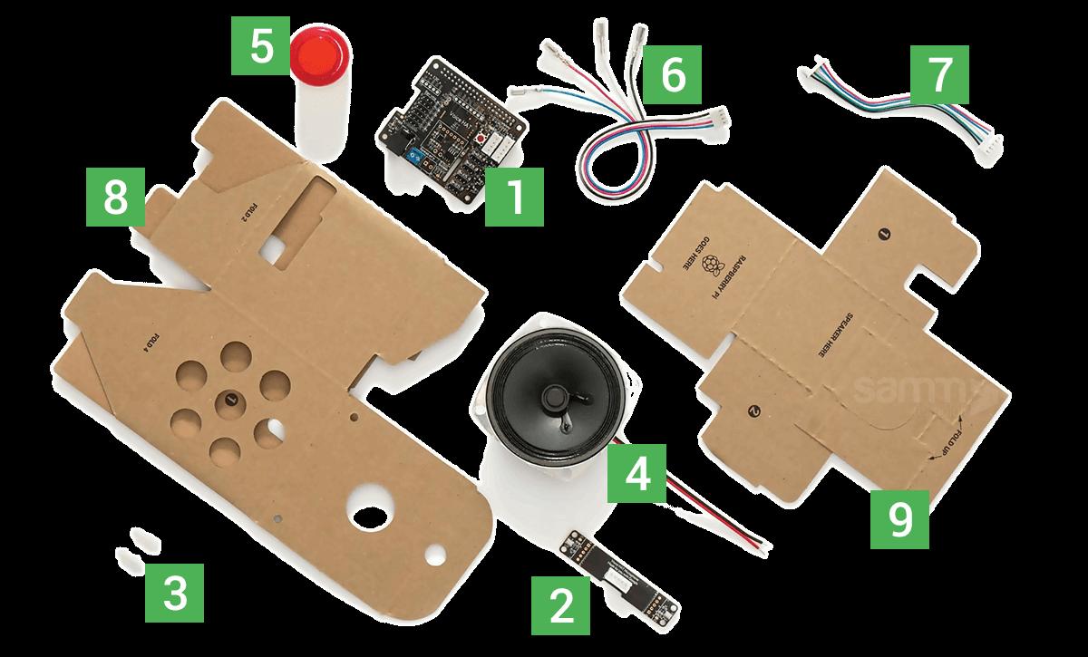 google-voice-kit-components-malzemeleri